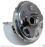 "Chrome Chevy Single Diaphram Brake Booster 11 inch "" gm chevy gmc"