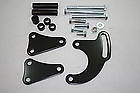 Small Block Chevy Power Steering Bracket Set 350 305 400 Long Water Pump black
