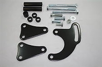 Big Block Chevy Power Steering Bracket Set 396-454 Long Water Pump black steel