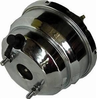 "Chrome Brake Booster GM CHevy 8 inch "" gm chevy gmc universal dual diaphram"