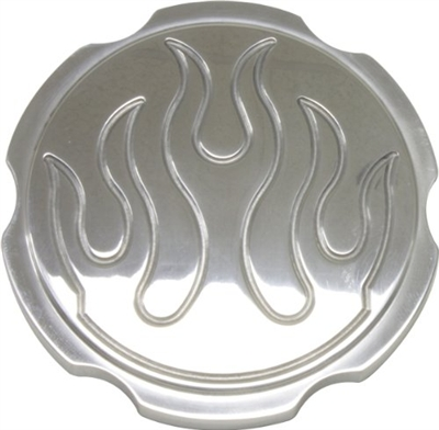 chrome aluminum Radiator Cap flame