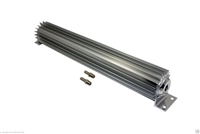 "Transmission Cooler Tube and Finned 18 "" inch single pass design universal alumim"