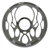 Chrome Aluminum Steering Wheel flame full billet style