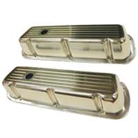 Small Block Ford Short Valve Cover ball milled aluminum