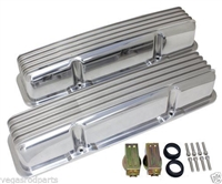 Nolstalgic Finned Vavle Covers Finned Valve Cover w/o Breather no Hole chevy 350