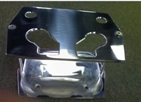 Polished Aluminum OPTIMA Battery Tray Polished Smooth