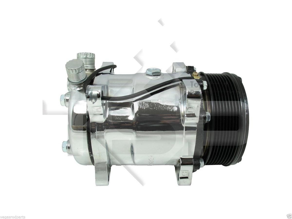 Air Compressor Serpentine Belt : Chrome sanden v compressor serpentine pulley