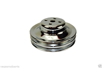 Chrome Water Pump Pulley Ford 289 double 2 goove chrome steel mustang falcon