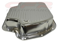Chevy 400 extra deep sump Chrome Transmission Pan with drain plug th400
