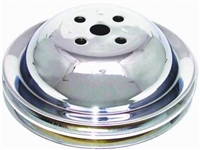 Water Pump Pulley Steel Chrome steel Double Groove BBC Short chevy 396 454
