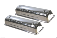 Chrome steel Valve Covers 5241 Ford Y-Block V8 272 312 engines 1954 - 1964