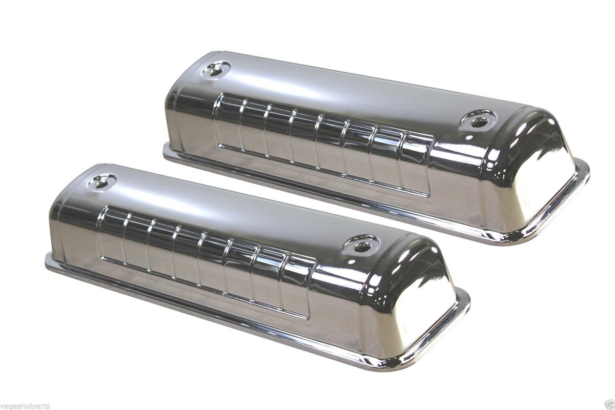 Chrome Steel Valve Covers 5241 Ford Y Block V8 272 312