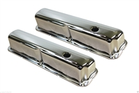 Valve Covers Steel Chrome Standard Height Baffled Ford 352 390 406 427 428