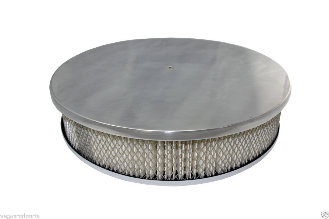 Chevy Ford Mopar 14 Quot Round Polished Aluminum Air Cleaner