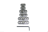 Universal Chrome Spark Plug Wire Loom / Dividers / Separator Set 8, 8.8, 9mm