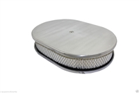 "CHEVY/FORD/MOPAR 12"" OVAL POLISHED ALUMINUM AIR CLEANER - SMOOTH"