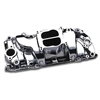 BBC Chevy Oval Port Polished Aluminum Intake Manifold Power Plus