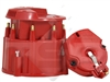 Small Big Block Chevy GM HEI Distributor RED SUPER Cap and Rotor kit 327 305 350 454