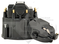 Small Big Block Chevy GM HEI Distributor BLACK Cap and Rotor kit 327 305 350 454