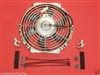 "Chrome 10 "" inch HIGH PERFORMANCE ELECTRIC RADIATOR COOLING FAN Curved BLADE"