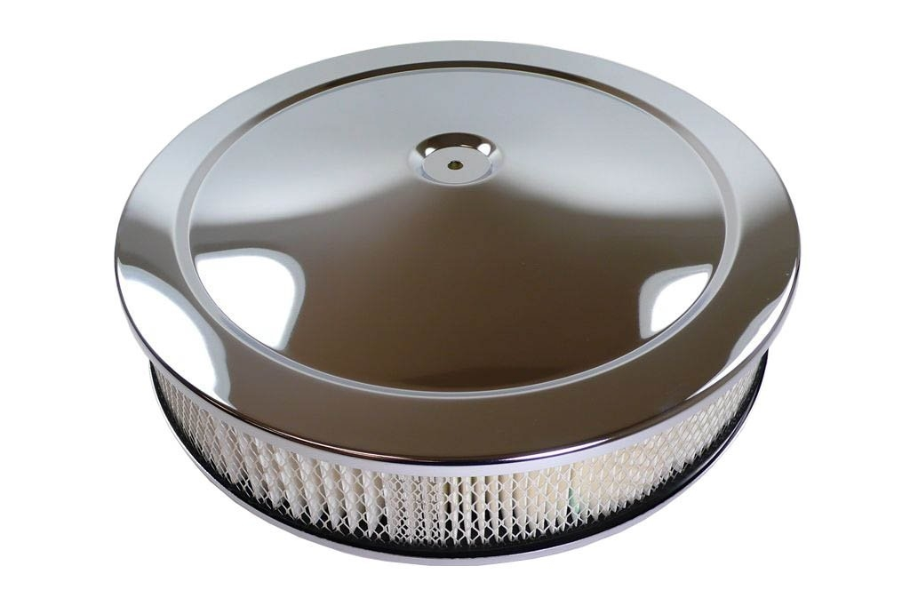 """12/"""" Oval Air cleaner Lid top only Chromed Muscle Car Chevy Ford Mopar SBC BBC"""