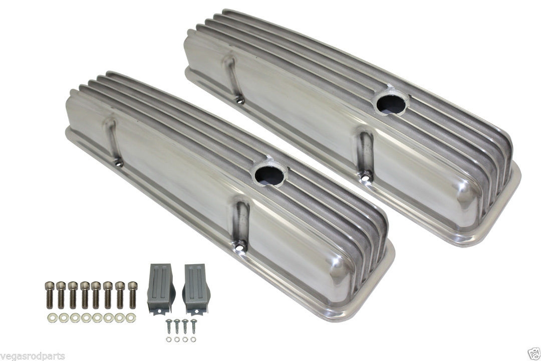 Aluminum Finned Valve Covers (baffled) small block chevy