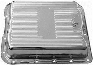 Gm 700r4 Transmission >> Transmission Pan Gm 700r4 Chrome With Drain Plug