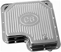 Ford c 6 Transmission Pan chrome steel W/plug stock debth