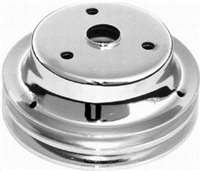 Small Block Chevy Double Groove Crankshaft Pulley for long pump