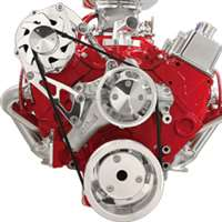 Small Block Chevy Top Mount Alternator Only serpentine  Kit billet aluminum