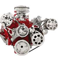 Small Block Chevy Top Mount Alternator with A/C & Power Steering serpentine Kit
