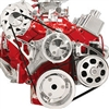 Small Block Chevy Alternator Power Steering Serpentine Kit Billet Aluminum set Billet Aluminum