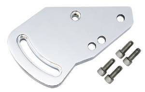 CHEVY TYPE II POWER STEERING BRACKET SET - CHROME short pump