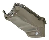 CHROME STEEL 6QT RACING OIL PAN 1962-67 CHEVY II NOVA SB 283 305 327 350 400