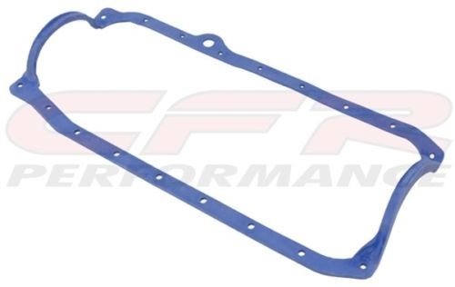 SBC 1 PIECE OIL PAN GASKET BLUE 86 UP LATE FITS CHEVY 305 350 383 400 ENGINE