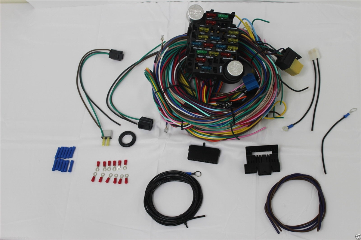 [SCHEMATICS_48DE]  12 Circuit Wiring Harness CHEVY Mopar FORD Hot rods UNIVERSAL Wires!! | 12 Circuit Universal Wiring Harness |  | Vegas Rod Parts