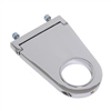 "Steering Column Mount 2.0"" Diameter 4.50"" Drop Aluminum Chrome universal 4 1/2"""