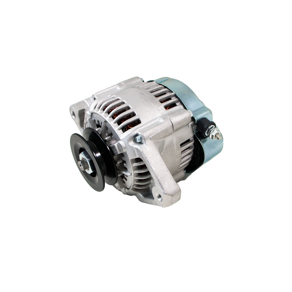 Satin Mini Alternator Denso Street Rod Race 1 Wire 90 Amp One How To A