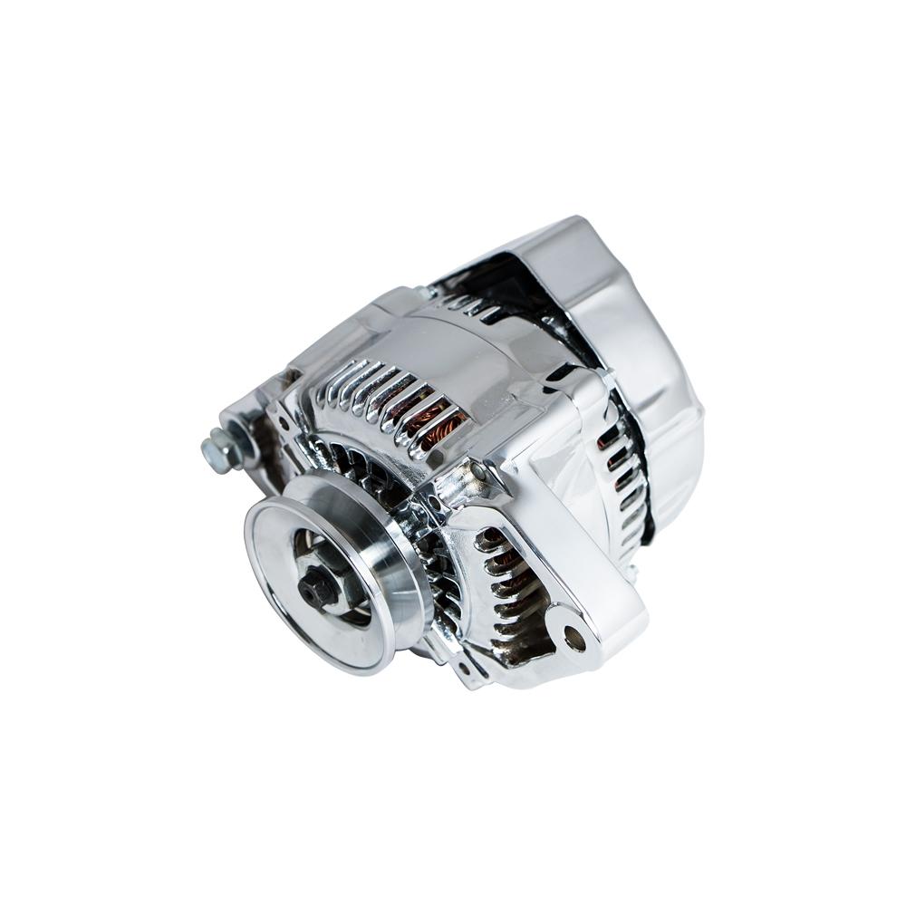 Mini One Wire Alternator Gm Wiring Diagram01 1035 Chrome Denso Street Rod Race 1 90 Amp