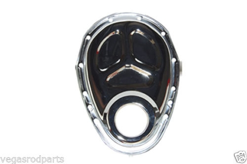 Small Block Chevy Chevrolet Timing Chain Cover Chrome