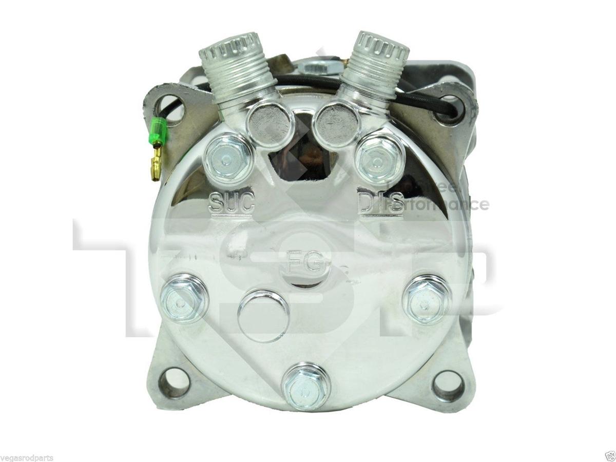 Chrome Sanden 508 12V Compressor serpentine pulley