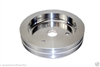 Small Block Chevy Polished Aluminum crank shaft Pulley double groove billet lower