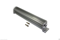 "Transmission Cooler Tube and Finned 15 "" inch single pass design universal aluminum"