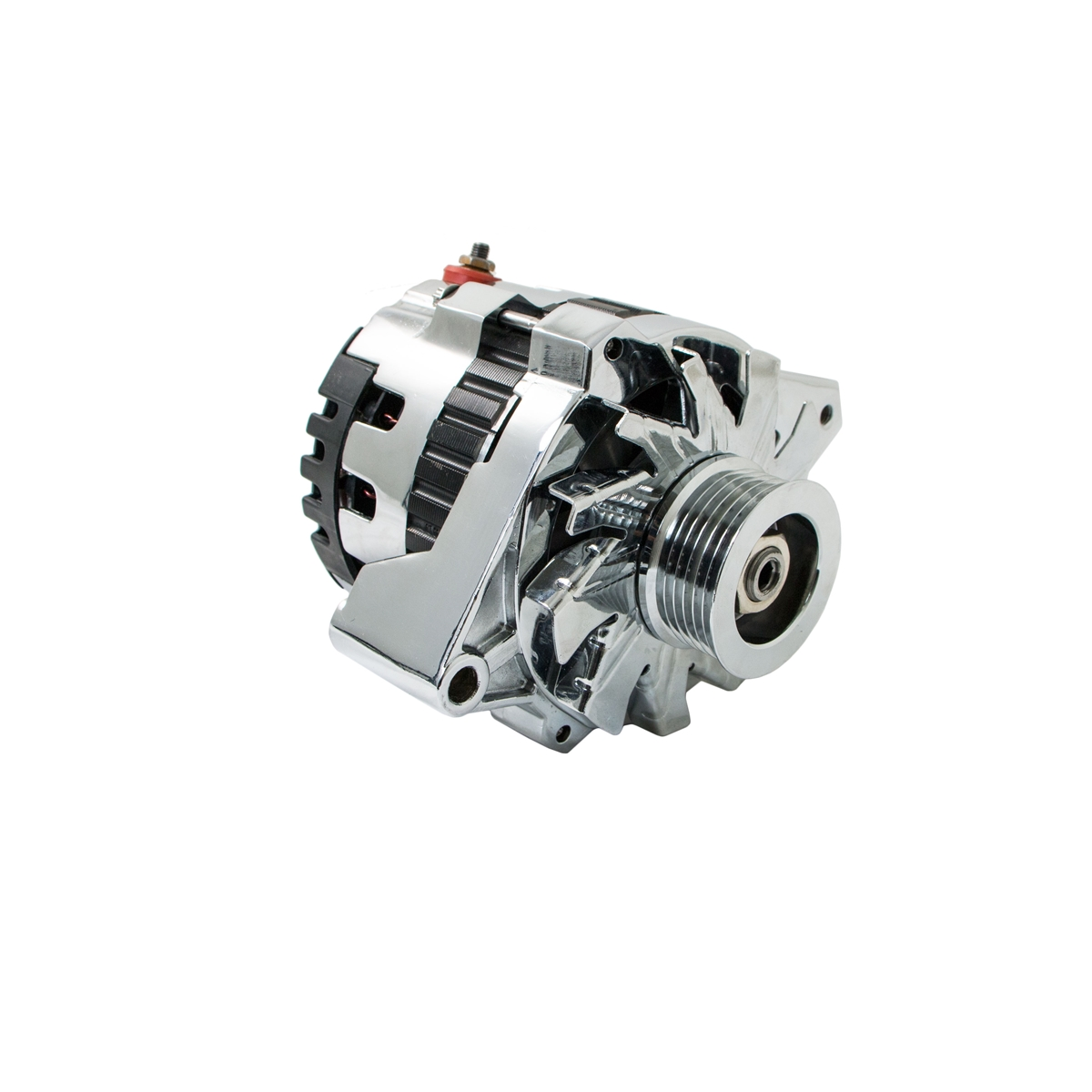 Universal GM Chevy Serpentine High Output CHROME Alternator 160 AMP ...