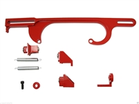 Throttle Cable Bracket Red anodized steel Holley 4150 4160 holley carb